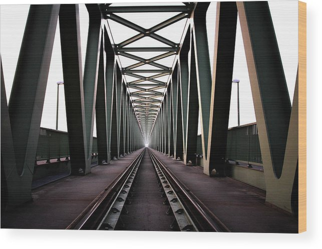 Bridge Wood Print featuring the photograph Bridge by Zoltan Toth