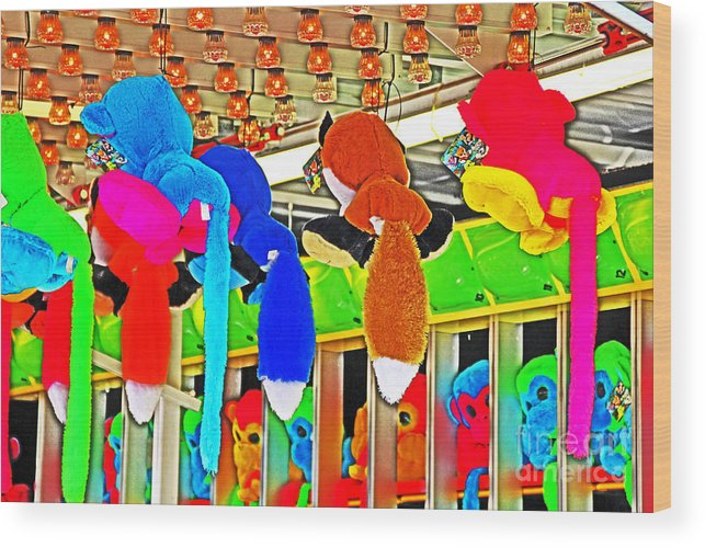 Carnival Wood Print featuring the photograph Carnival Critters by David Frederick