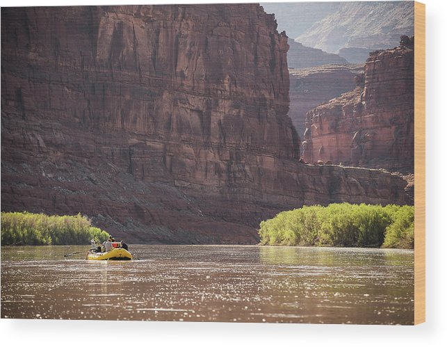 Rafting Wood Print featuring the photograph Cataract Canyon 4 by Whit Richardson
