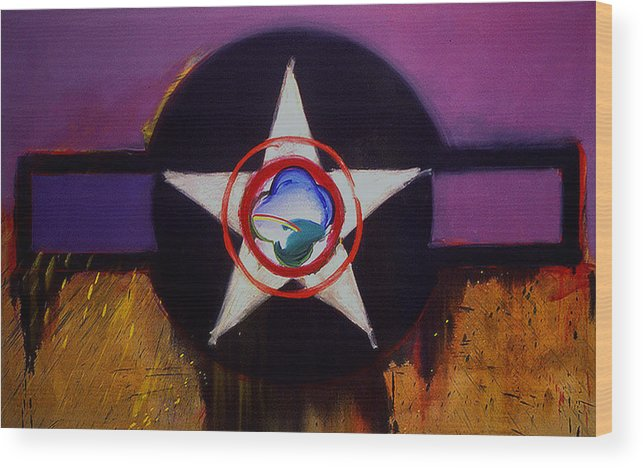 Air Force Insignia Wood Print featuring the painting Cheyenne Autumn by Charles Stuart