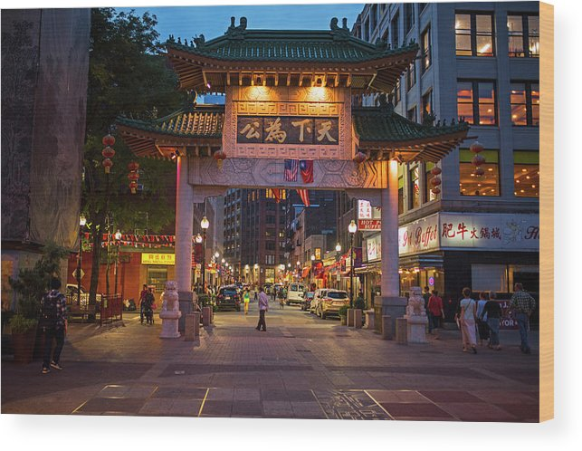 Chinatown Gate Boston Ma Wood Print By Toby Mcguire