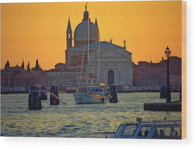 Venice Wood Print featuring the photograph Church of the Redentore in Venice by Michael Henderson