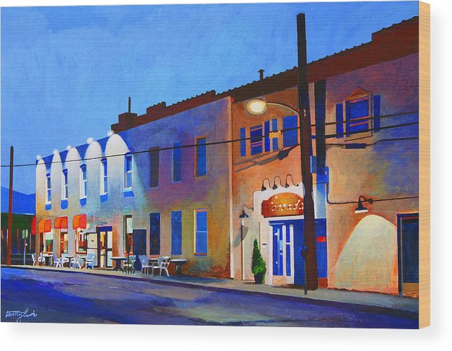 Huntington Wood Print featuring the painting Clinton Street by John Tartaglione