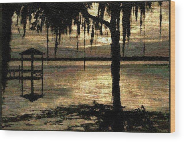 Florida Wood Print featuring the digital art Colee Cove by Scott Waters