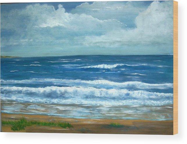 Beaches Wood Print featuring the painting Cross Beach by Richard Hubal