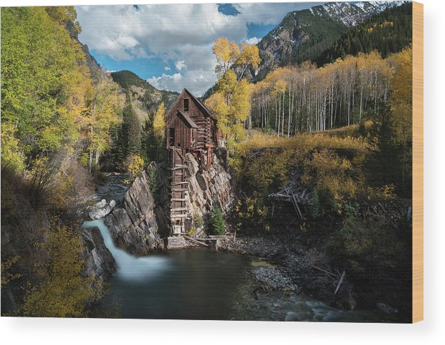 Colorado Wood Print featuring the photograph Fall at Crystal Mill by James Udall