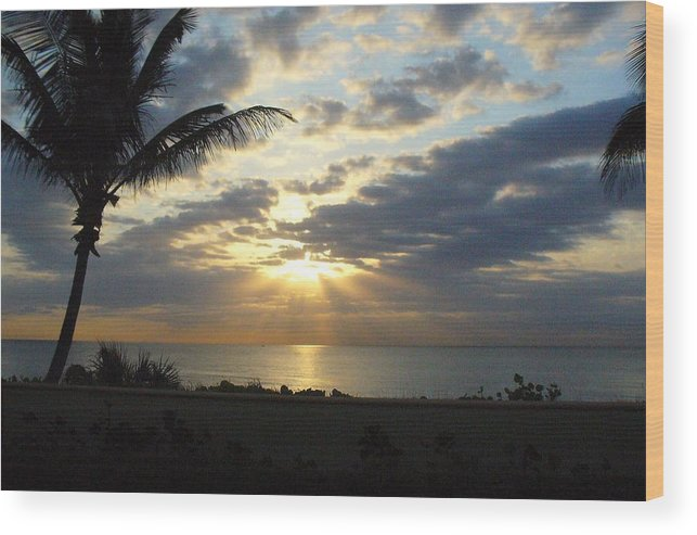 Sunrise Wood Print featuring the photograph Glorious morning by Peggy King