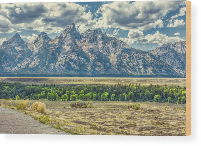 Jackson Wood Print featuring the photograph Grand Tetons National Park by John M Bailey