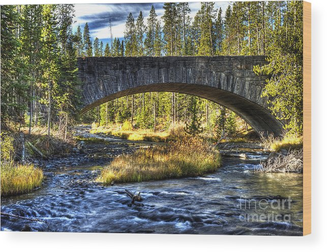 Places Wood Print featuring the photograph Grasshopper Creek by Dennis Hammer