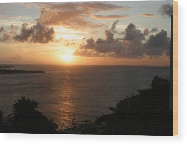 Grenada Wood Print featuring the photograph Grenadian Sunset I by Jean Macaluso