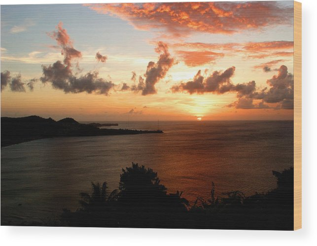 Sunset Wood Print featuring the photograph Grenadian Sunset II by Jean Macaluso