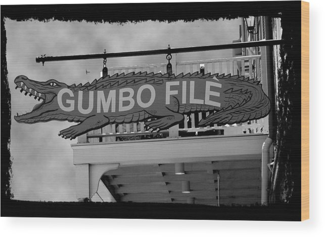 New Orleans Wood Print featuring the photograph Gumbo File by Linda Kish