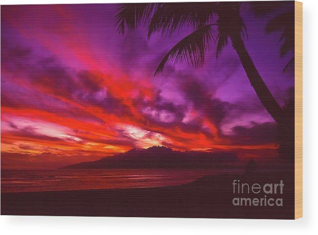 Landscapes Wood Print featuring the photograph Hand of Fire by Jim Cazel
