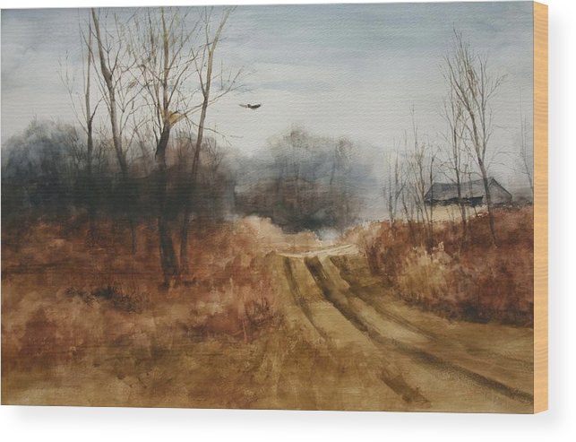 Landscapes Wood Print featuring the painting Hawks Nest by Don Cull