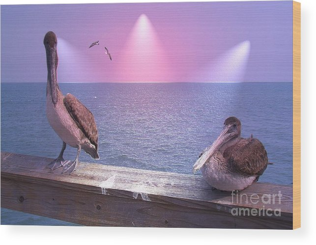 Birds Wood Print featuring the photograph Hey Baby by Rana Adamchick