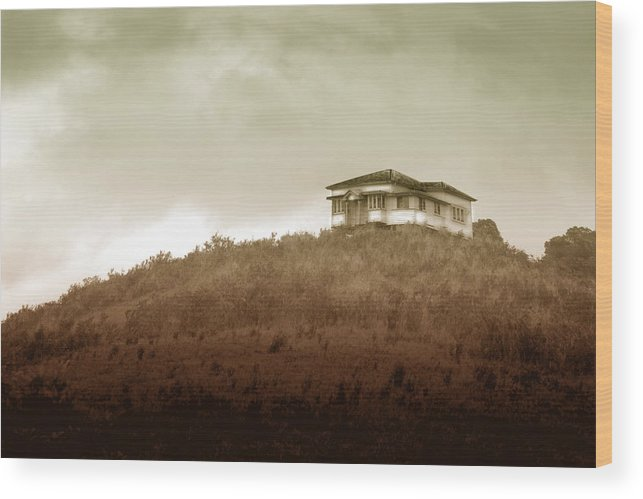 Landscape Wood Print featuring the photograph Home on the Range by Holly Kempe