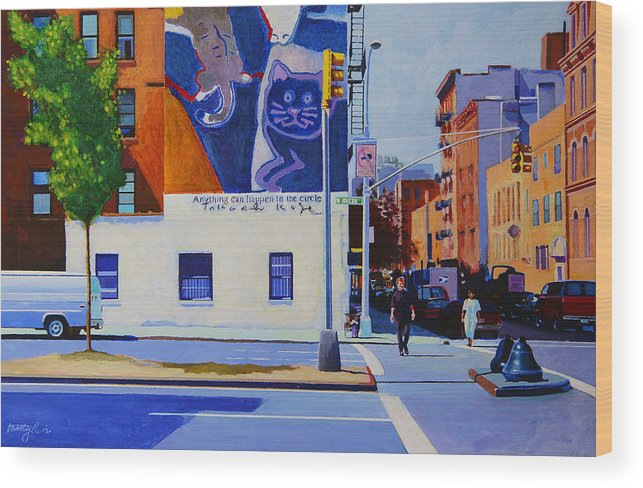 Houston Street Wood Print featuring the painting Houston Street by John Tartaglione