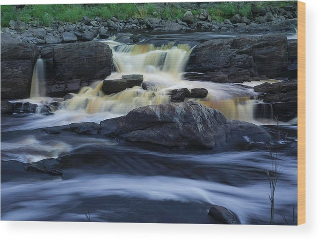 Waterfall Wood Print featuring the photograph Jay Cooke State Park by Heidi Hermes