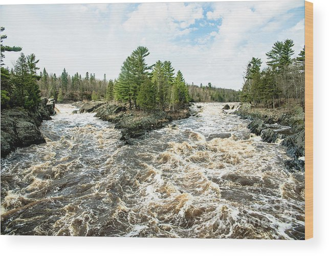River Wood Print featuring the photograph Jay Cooke State Park River by Chellie Bock