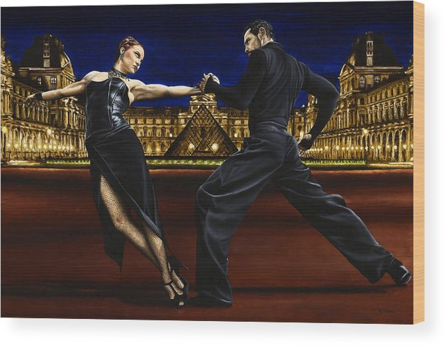 Tango Wood Print featuring the painting Last Tango in Paris by Richard Young