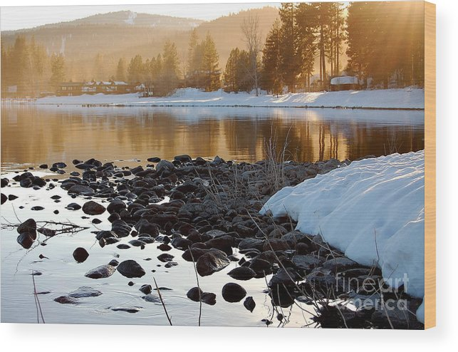 Lake Tahoe Wood Print featuring the photograph Late Aternoon Lake Tahoe by Heather S Huston