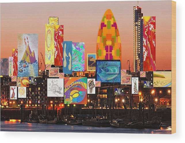 LONDON CITYSCAPE COLLAGE CANVAS PICTURE PRINT WALL ART HOME DECOR DESIGN