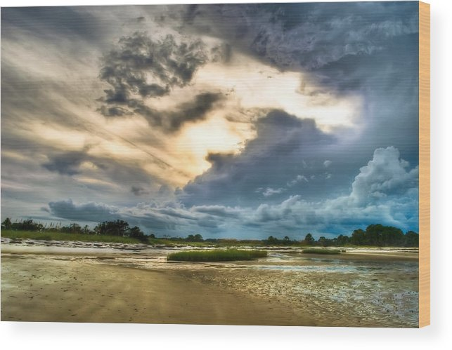 Beach Wood Print featuring the photograph Majestic Sky by Rich Leighton
