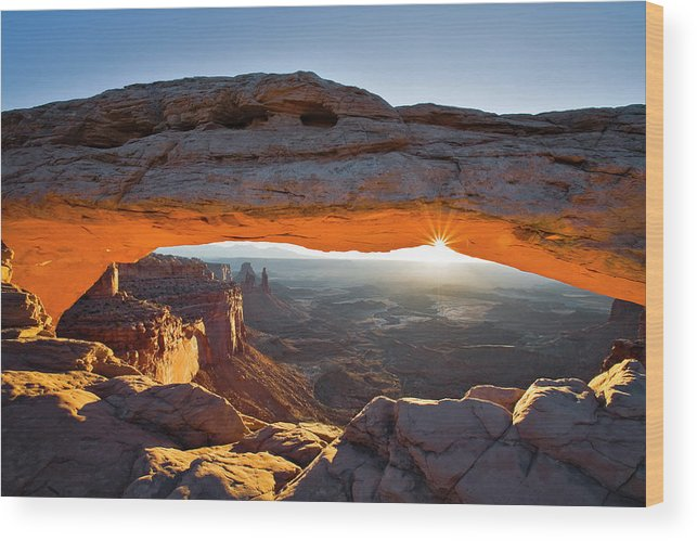 Utah Wood Print featuring the photograph Mesa Arch 3 by Whit Richardson