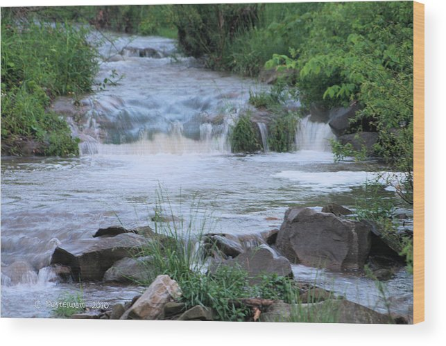 Mingo Run Wood Print featuring the photograph Mingo Run after a Storm by Carolyn Postelwait