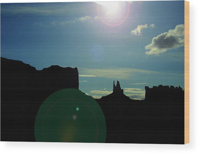 Monument Valley Wood Print featuring the photograph Monument Valley silhouette by Roy Nierdieck