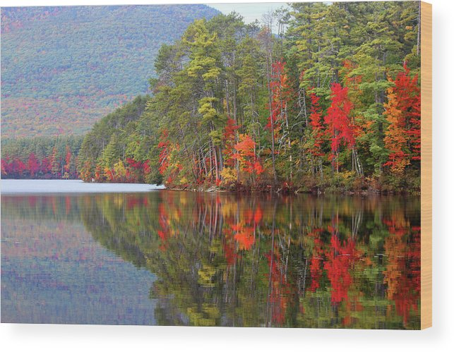 Landscape Wood Print featuring the photograph Mt. Chocorua Reflections II by Lynne Guimond Sabean