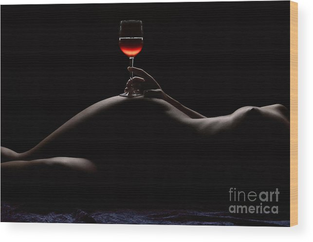 Nude Wood Print featuring the photograph Night by David Naman