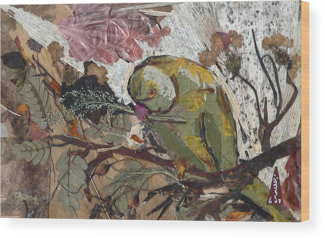 Colorful Green Bird Wood Print featuring the mixed media Parrot by Basant Soni