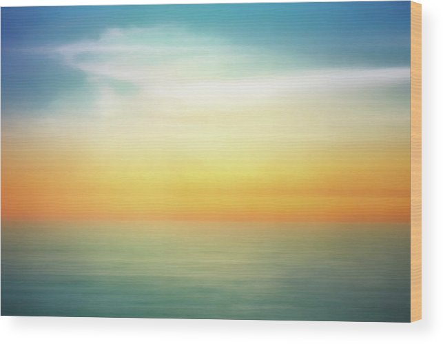 Pastel Wood Print featuring the digital art Pastel Sunrise by Scott Norris