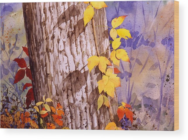 Poison Ivy Wood Print featuring the painting Poisonous Beauty by Faye Ziegler