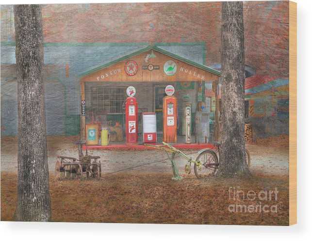 Travel Wood Print featuring the photograph Possum Holler by Larry Braun
