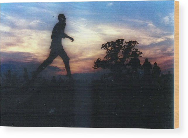 Sunset Wood Print featuring the photograph Race to Sunset by Michael Facey