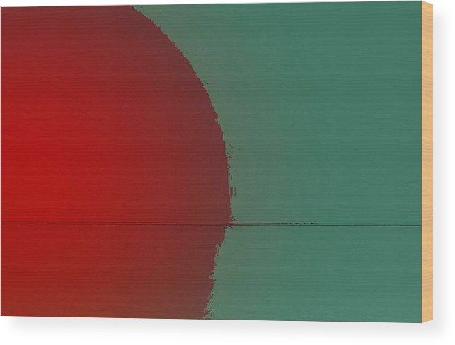 Sunset Wood Print featuring the digital art Red sunset by Joseph Ferguson