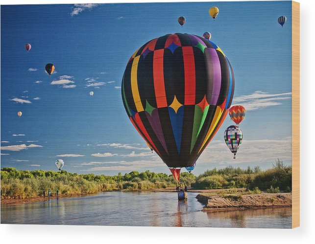Nature Wood Print featuring the photograph Rio Grande Splash Down, New Mexico by Zayne Diamond Photographic