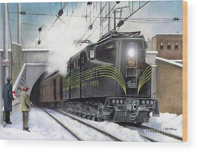 Pennsylvania Railroad Wood Print featuring the painting Rivets by David Mittner