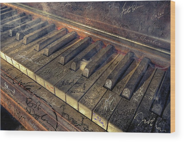 Rock Wood Print featuring the photograph Rock Piano Fantasy by Mal Bray