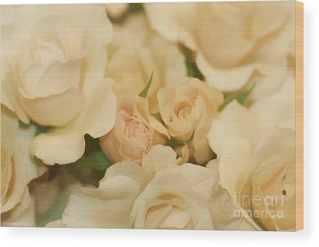 White Wood Print featuring the photograph Rose Bouquet by Deborah Benoit