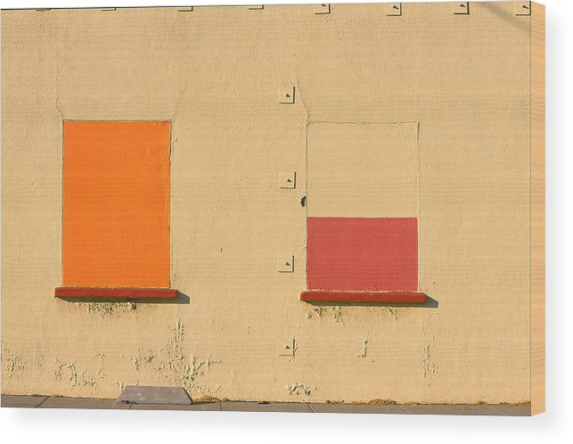 Oakland Wood Print featuring the photograph Rothko Wall Oakland by Art Ferrier