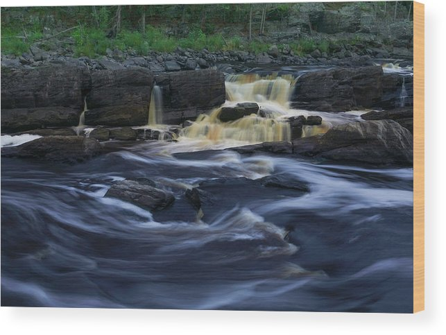 Waterfall Wood Print featuring the photograph Rushing by the Falls by Heidi Hermes