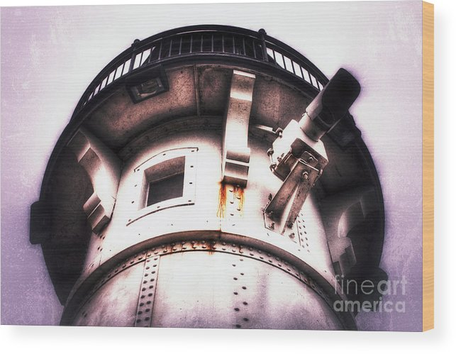 Lighthouse Wood Print featuring the photograph Rusted Beacon by Ever-Curious Photography