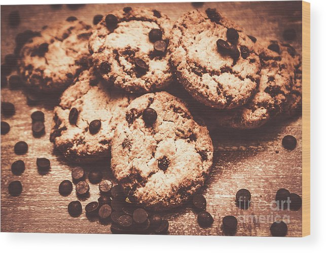 Dessert Wood Print featuring the photograph Rustic Kitchen Cookie Art by Jorgo Photography - Wall Art Gallery