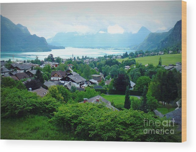Austria Wood Print featuring the photograph Salzburg Lake District by Carol Groenen