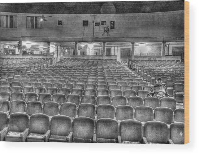 Wood Print featuring the photograph Senate Theatre Seating Detroit MI by Nicholas Grunas