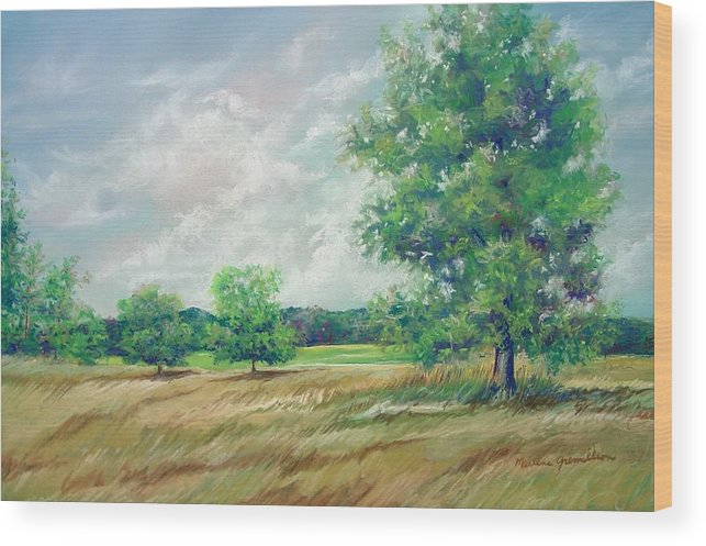 Pastel Wood Print featuring the painting Serenity by Marlene Gremillion