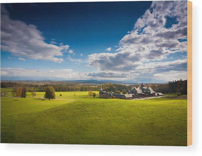 New England Wood Print featuring the photograph Shelburne Farm by Robert Davis